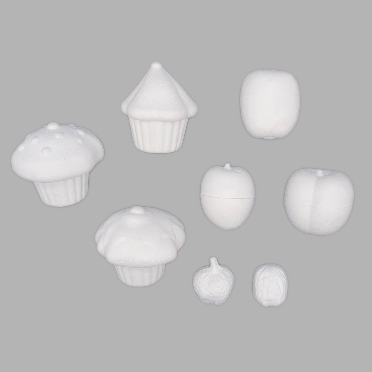 Набор пенопластовых заготовок для декорирования 'Фрукты с десертом'