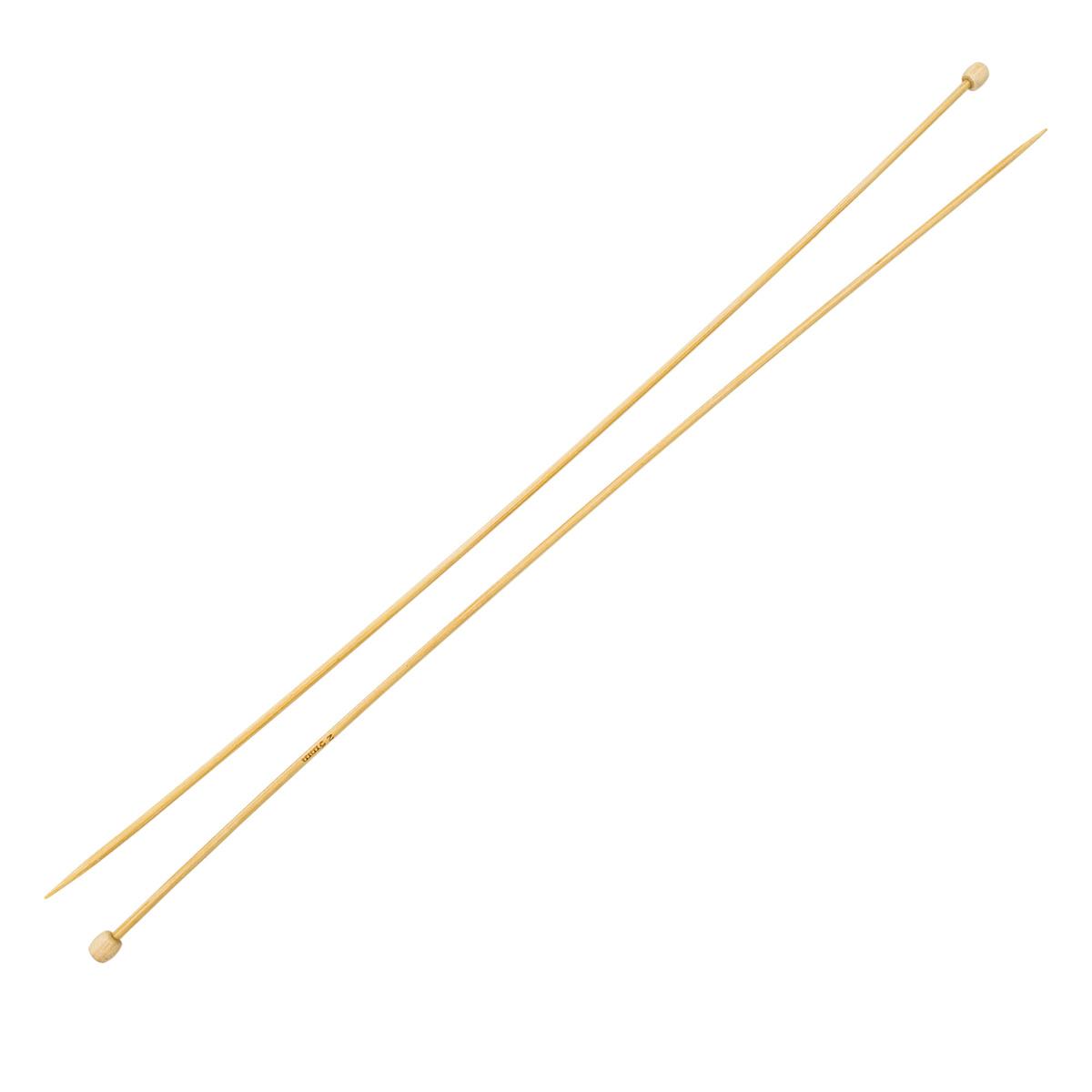 Спицы прямые бамбук 942220, 35 см, 2,0 мм, Hobby&Pro