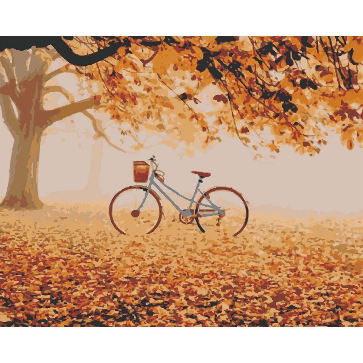 HS0264 Набор для рисования по номерам 'Осенний парк' 40*50см