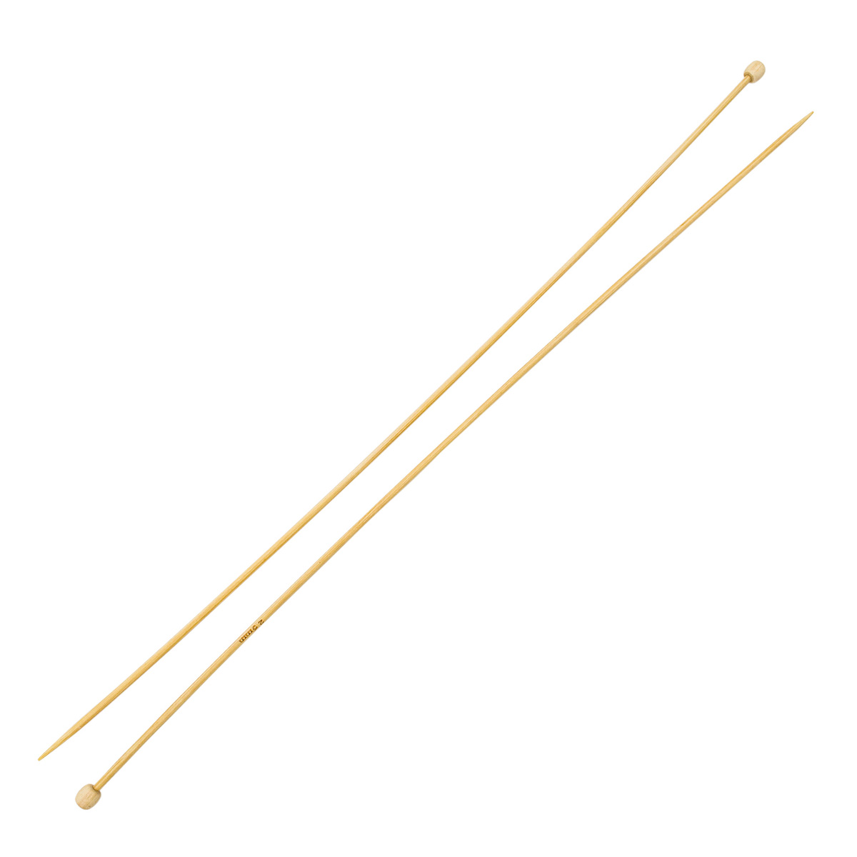 Спицы прямые бамбук 942225, 35 см, 2,5 мм, Hobby&Pro