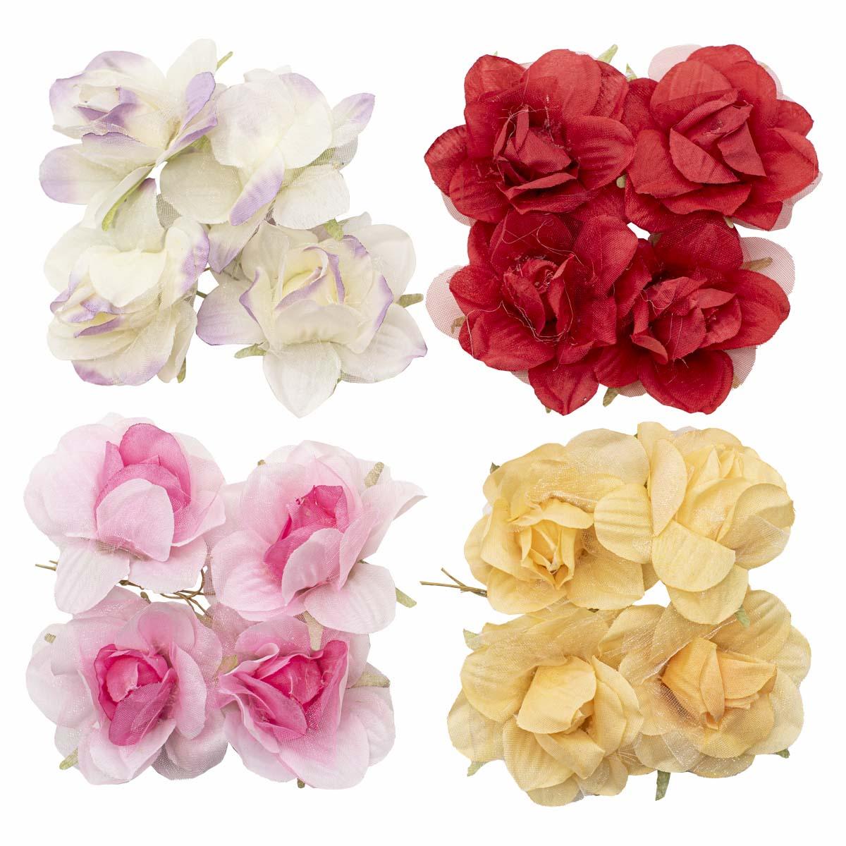 Набор декоративных цветов 'Ассорти 2' D=5,5*2,5см, 16шт, Астра