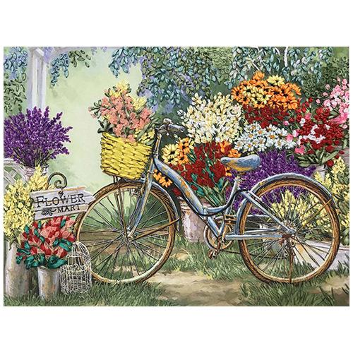 КЛ(н)-3002 Набор для вышивания лентами 'Цветы для любимой' 25,3*36см