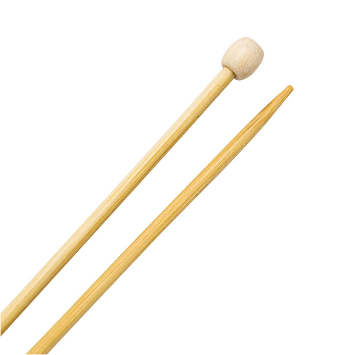Спицы прямые бамбук 942230, 35 см, 3,0 мм, Hobby&Pro