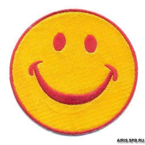 AD1057 Термоаппликация 'Смайлик улыбается', d 7,5 см, Hobby&Pro