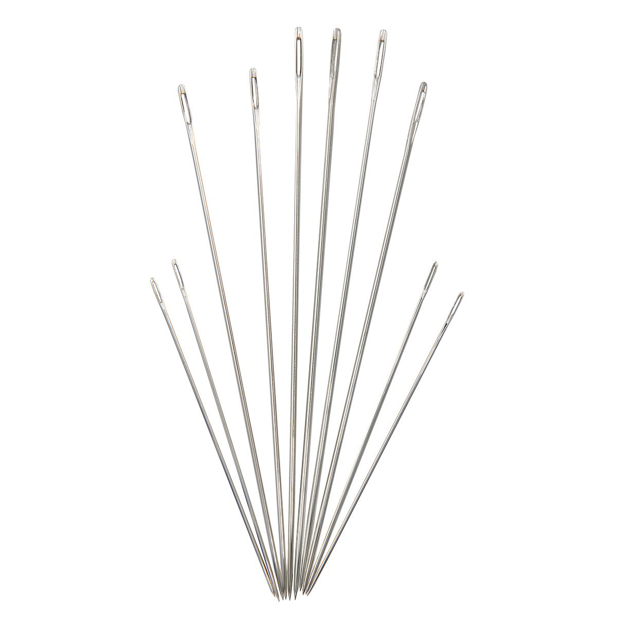 Иглы ручные для штопки тонкой нитью №1-9, 10шт. 120112, Hobby&Pro