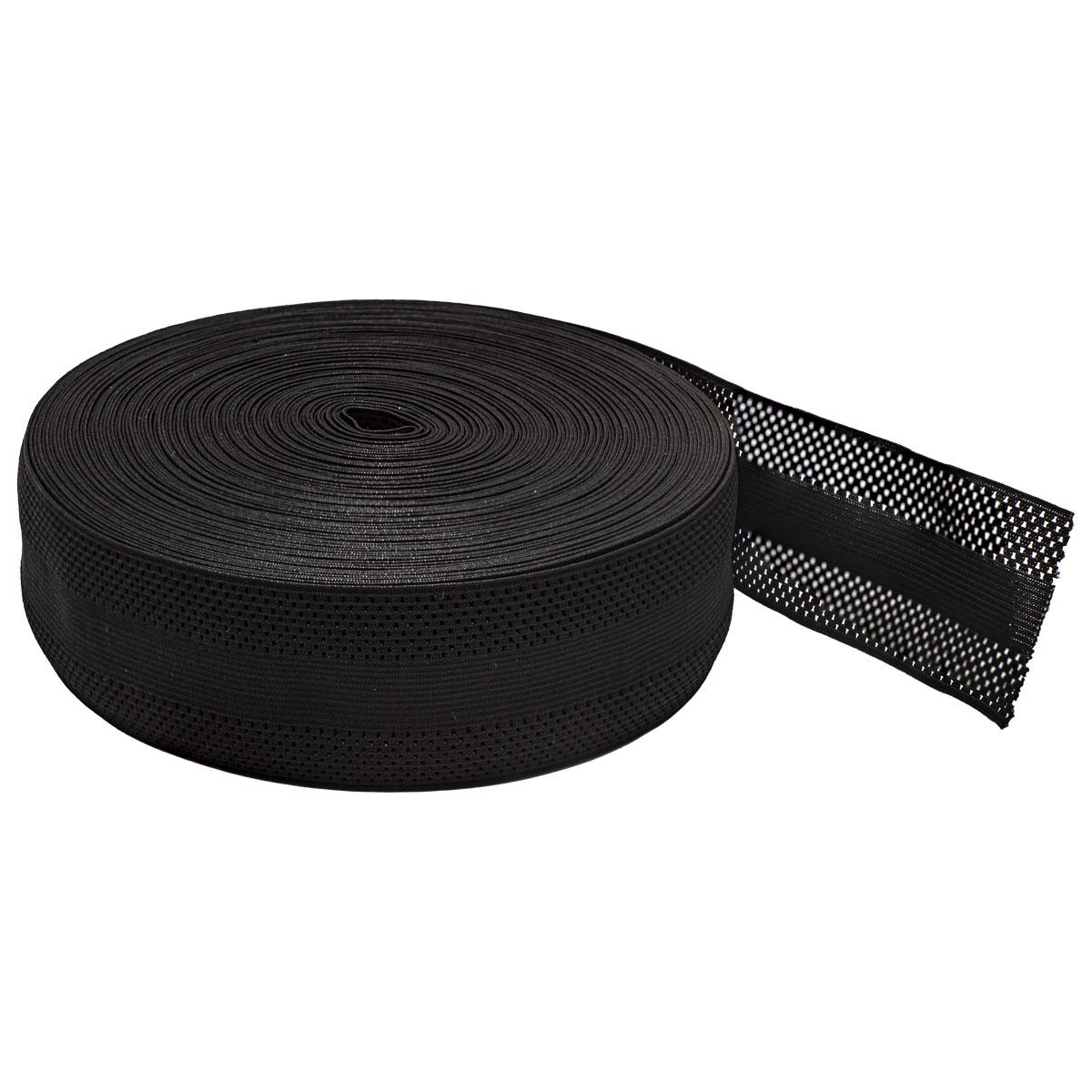 0355/105 Лента эластичная 55мм*25м, черный