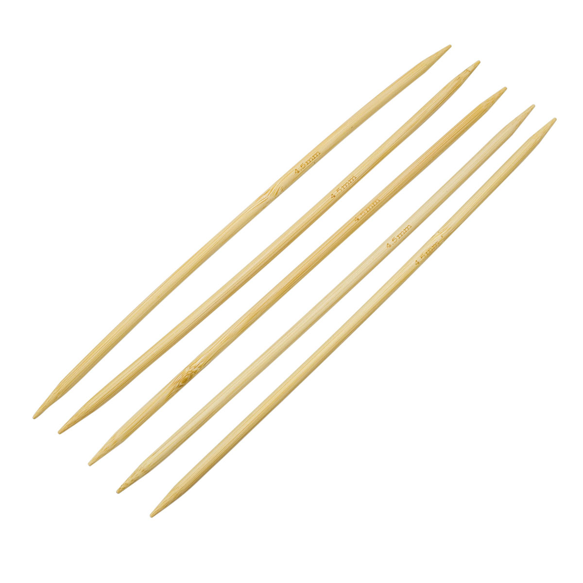 Спицы носочные бамбук 942545, 20 см, 4,5 мм, Hobby&Pro