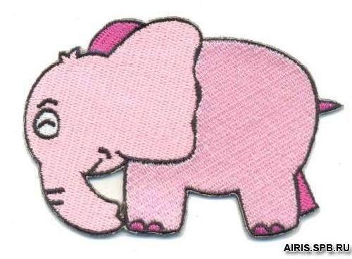 AD1076 Термоаппликация 'Розовый слон', 6*8 см, Hobby&Pro