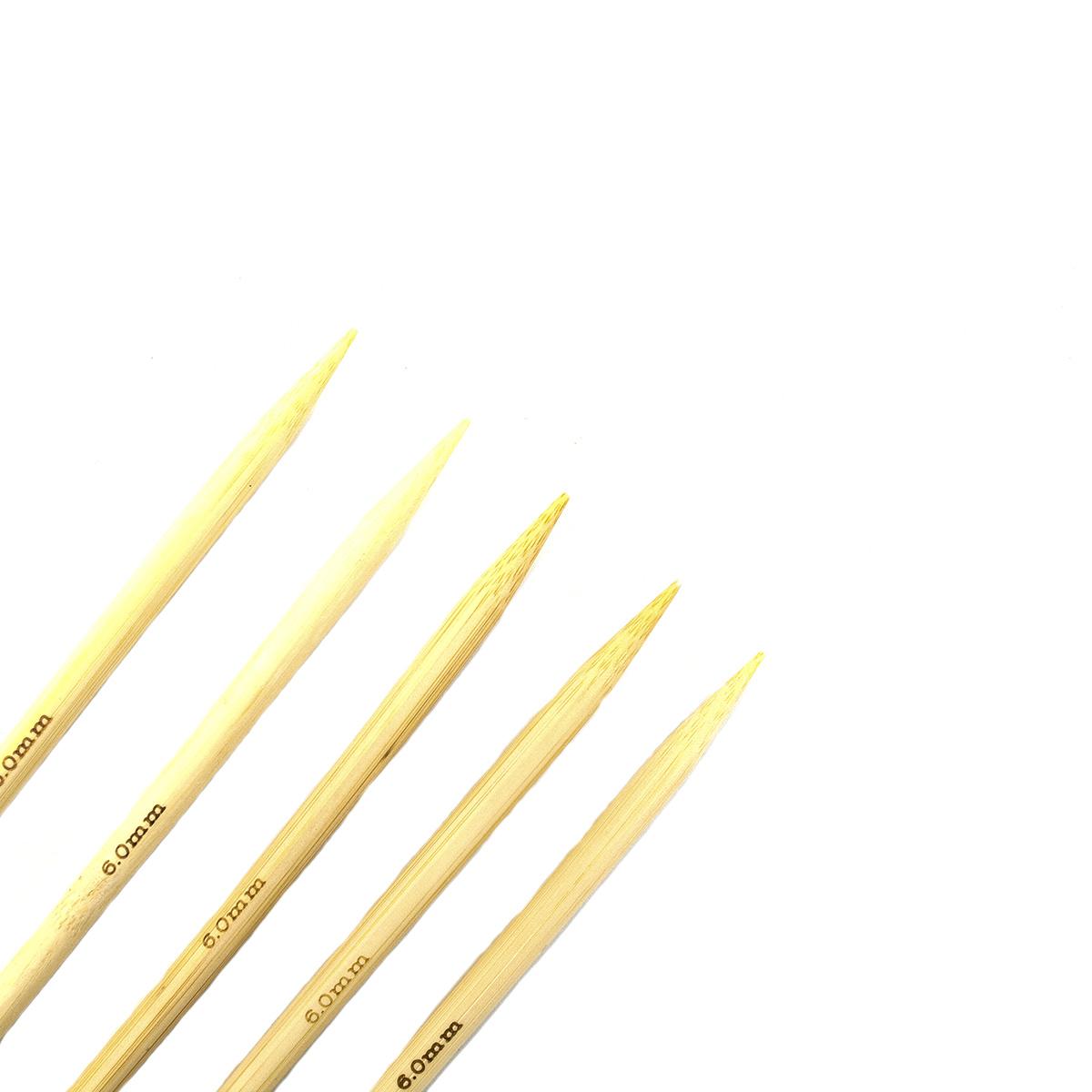 Спицы носочные бамбук, 20 см, 6,0 мм (942560), Hobby&Pro