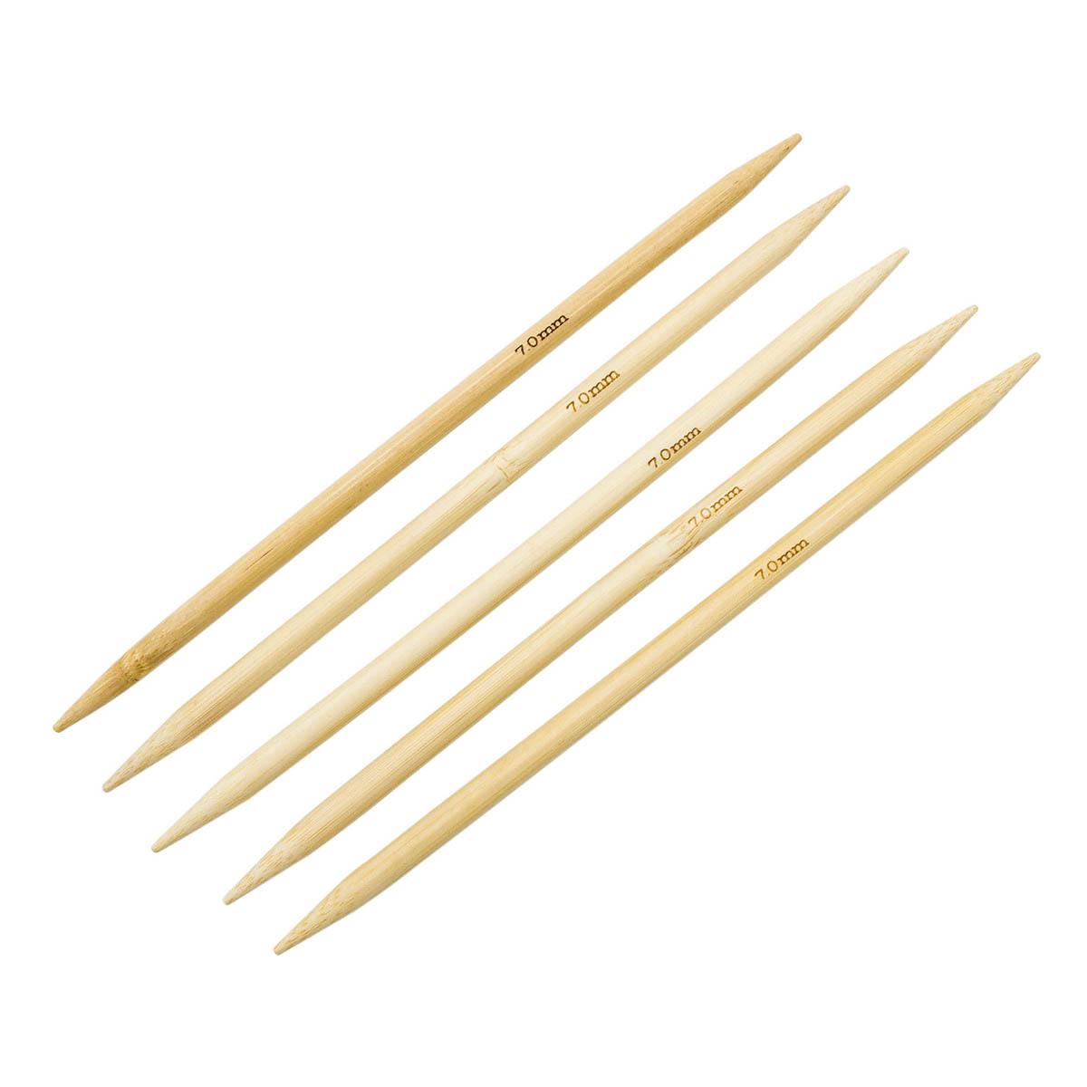 Спицы носочные бамбук, 20 см, 7,0 мм (942570), Hobby&Pro