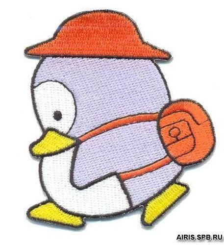 AD1080 Термоаппликация 'Пингвин с рюкзаком', 7*6 см, Hobby&Pro